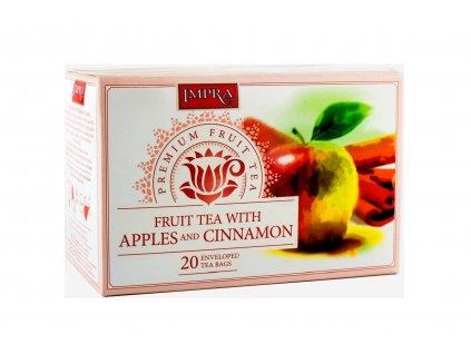 Čaj ovocný s jablkem a skořicí - Impra 20x2,5g