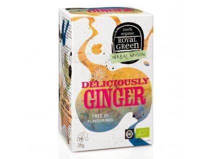 Royal Green zázvorový čaj Deliciously Ginger BIO 16 x 1,8 g
