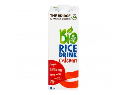 Nápoj rýžový kalcium 1 l BIO THE BRIDGE