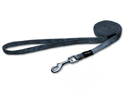 Vodítko pro psa nylonové - Rogz Alpinist - stříbrné - 1,1 x 180 cm