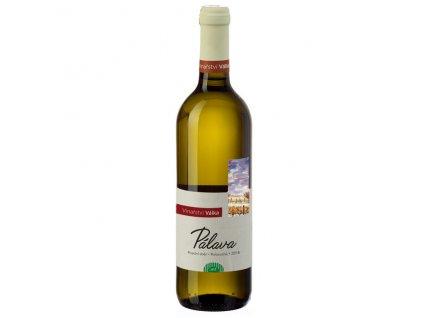 Víno bílé Pálava ročník 2018 - pozdní sběr (polosuché) 750 ml BIO VINAŘSTVÍ VÁLKA