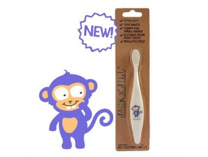 Jack n' Jill Dětský zubní kartáček Opička