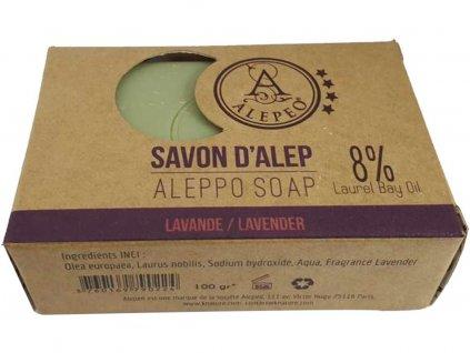 Mýdlo ručně vyráběné Alepeo - Levandule 100g