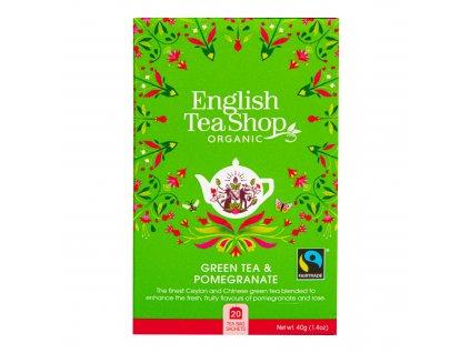 Čaj Zelený s granátovým jablkem 20 sáčků BIO ENGLISH TEA SHOP