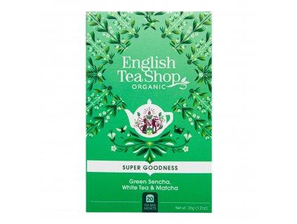Čaj Sencha, Bílý čaj a Matcha 20 sáčků BIO ENGLISH TEA SHOP