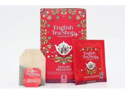 English Tea Shop Čaj černý BIO Breakfast 20 nálevkových sáčků 45g