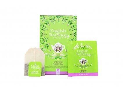 English Tea Shop Čaj zelený BIO s jasmínem a bezinkou 20 nálevkových sáčků 40g