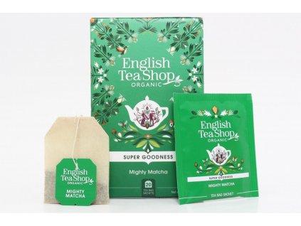 English Tea Shop Čaj zelený BIO Mocná Matcha 20 nálevkových sáčků 35g
