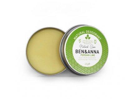 Ben & Anna Krémový deodorant Perská limetka (45 g)