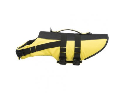 Life Vest plavací vesta pro psa XL 65 cm: 60-96 cm, do 45kg žluto/černá
