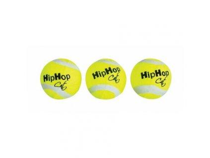 Balení-tenisový míček s rolničkou 4 cm HIPHOP CAT (3 ks v bal.)