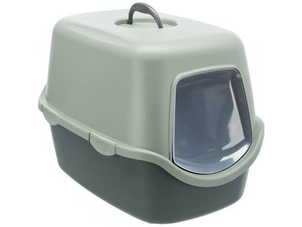 Toaleta Be Eco VICO, se střechou, 40x40x56cm, antracit/šedozelená