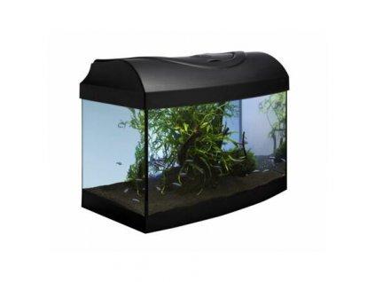 Akvarijní set 40 - černý oblý 40x25x25 cm (RP 2,90 Kč)
