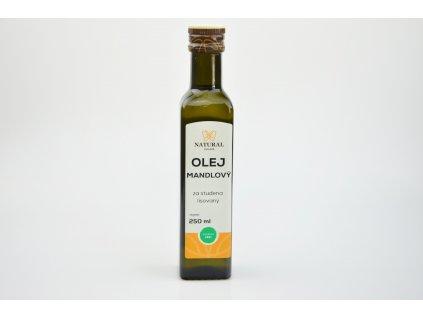 Olej mandlový za studena lisovaný - Natural 250ml