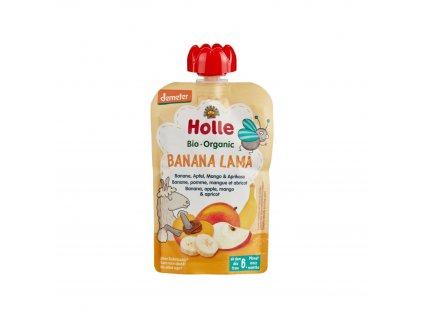 Ovocné pyré - BANANA LAMA BIO 100 g pro děti Holle