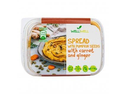Pomazánka dýňová s mrkví a zázvorem 125 g WELL WELL
