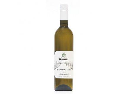 Víno bílé Rulandské šedé ročník 2019 - výběr z hroznů (polosuché) 750 ml BIO VERITAS
