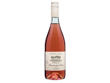 Víno růžové Frankovka rosé ročník 2018 - pozdní sběr (polosuché) 750 ml BIO VINAŘSTVÍ CIBULKA