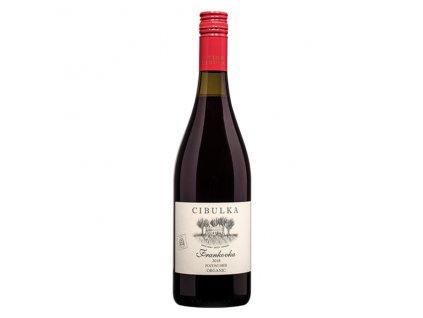 Víno červené Frankovka ročník 2018 - pozdní sběr (suché) 750 ml BIO VINAŘSTVÍ CIBULKA