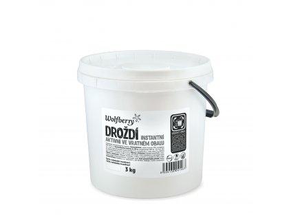 Droždí aktivní - instantní kvasnice 3 kg Wolfberry