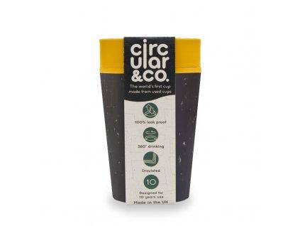 Circular Cup (227 ml) - černá/hořčicově žlutá