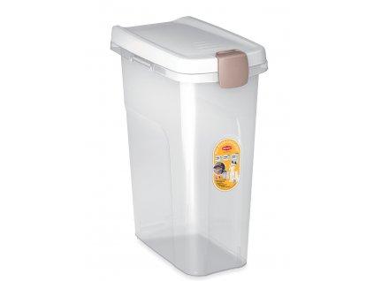 Barel Stefanplast s víkem 25 l/12 kg - průhledný