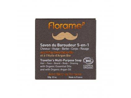 Univerzální mýdlo 5v1 HOMME — vlasy, obličej, vousy, holení, tělo 100 g BIO FLORAME