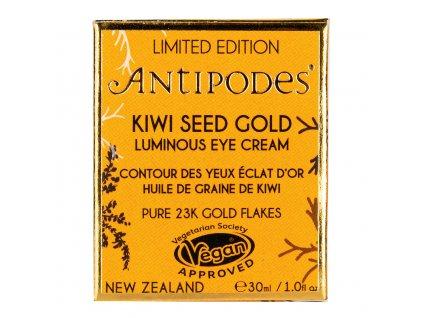 Krém oční rozjasňující Kiwi Seed GOLD Luminous Eye Cream 30 ml ANTIPODES