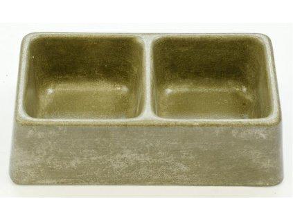 Miska beton dvojitá č. 191 Bemi 212 x 114 x 63 mm