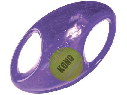Hračka guma + tenis Jumbler míč rugby KONG M/L