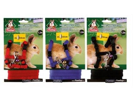 Postroj hlod. nylon s vodítkem mix barev Karlie králík