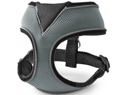 Postroj nylon celotělový - šedý Freezack vel. XL - 42 x 15,5 x 24,5 cm