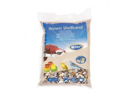 Písek hygien. pro ptáky hnědý+mušle Duvo 5kg