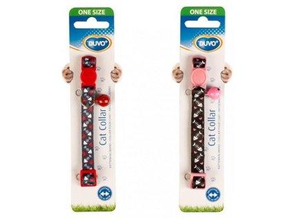 Obojek cat nylon DUVO+ ryba se srdíčky 20-30cm/10mm