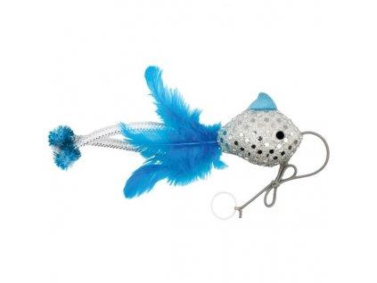Hračka cat textil Wonderland Bungee Fish 20x10x3,5cm