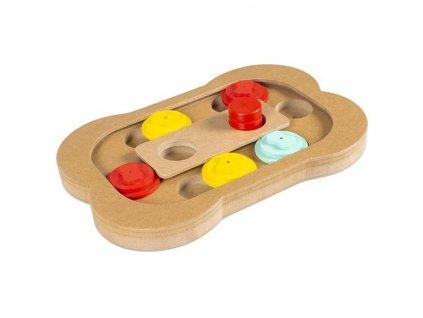 Hračka dřevo interaktivní Kost 28x19x2,5cm Duvo+