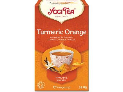 Bio Kurkuma Pomeranč Yogi Tea 17 x 2 g