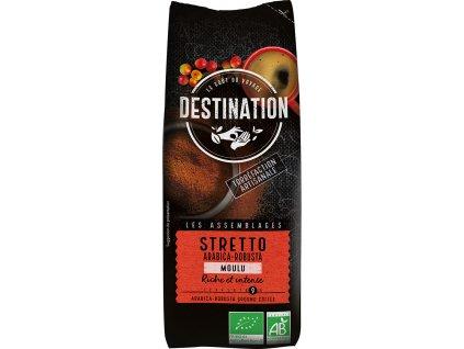 Bio káva mletá Stretto Destination 250 g