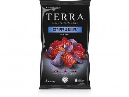 Zeleninové chipsy Stripes & Blues 110g
