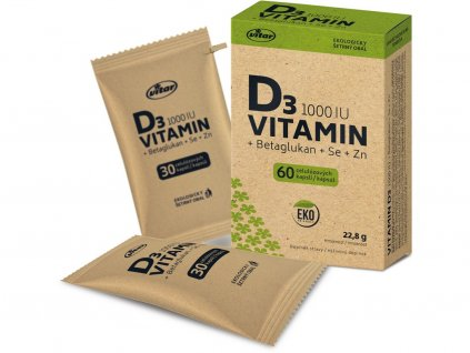 Vitamin D 1000 IU 60 kapslí