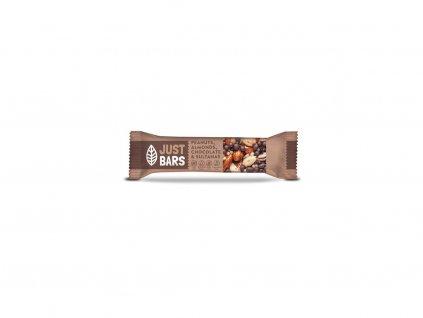 Oříšková tyčinka Just Bars Mandle,čokoláda, arašídy a sultánky 40g