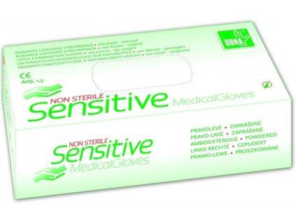 Rukavice nesteril. latex.pudr.Sensitive M 100ks