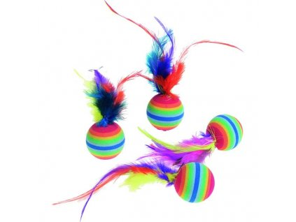 Hračka cat balónky Rainbow 4 ks Flamingo