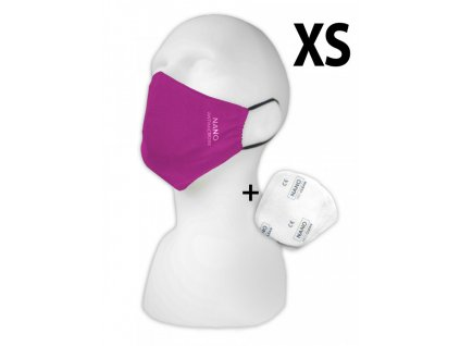 Pemitex Rouška s NANO filtry dětská velikost XS 1ks