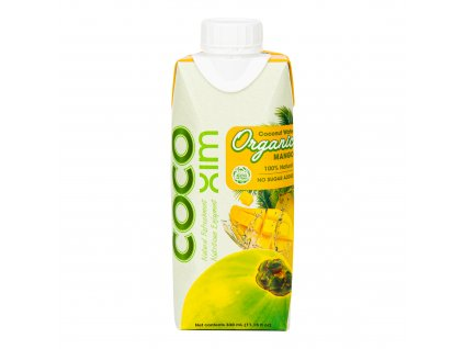 Voda kokosová mango 330ml BIO COCOXIM