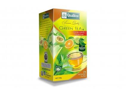 Čaj zelený s pomerančem, limetkou a mučenkou - 25x2g