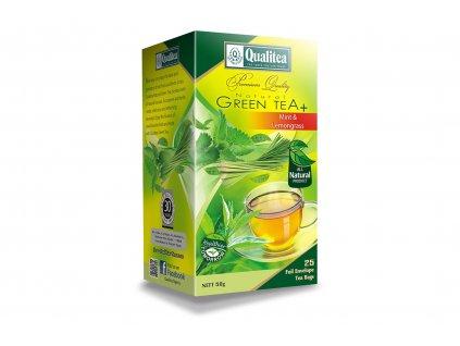 Čaj zelený s mátou a citrónovou trávou - Qualitea 25x2g