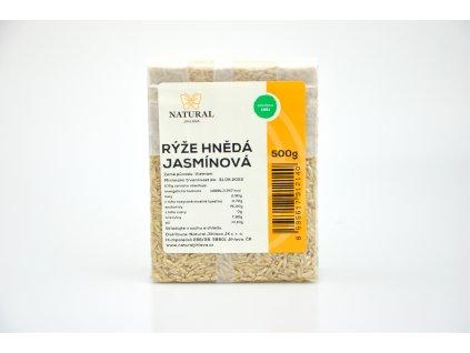 Rýže jasmínová hnědá (Vietnam) - Natural 500g