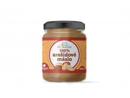 Arašídové máslo jemné 100% - Dr. Natural 500g
