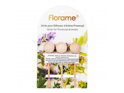 Náhradní tyčinky pro difuzér provensálský dřevěný 3 kusy FLORAME